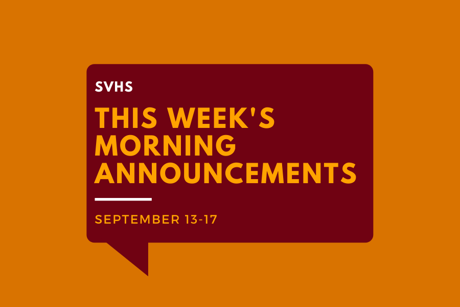 Morning Announcements: Sept. 13-17