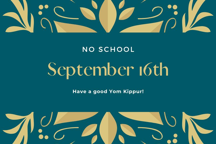 No School on September 16