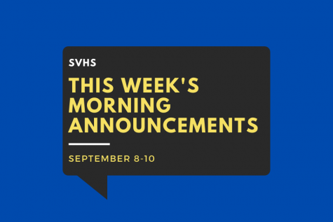 Morning Announcements: Sept. 8-10