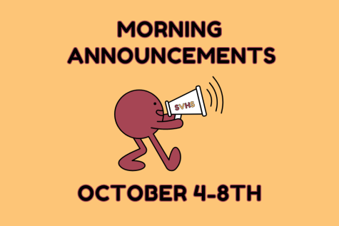 This Weeks Morning Announcements: Oct. 4-8